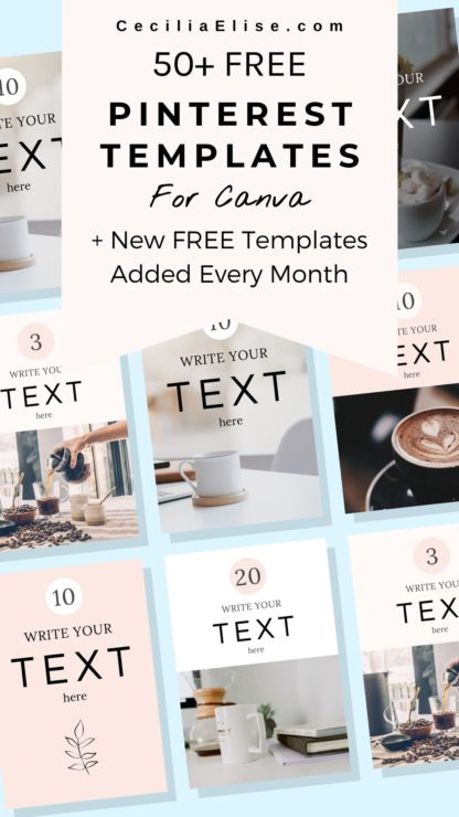 Inventicity™ pinterest templates for canva